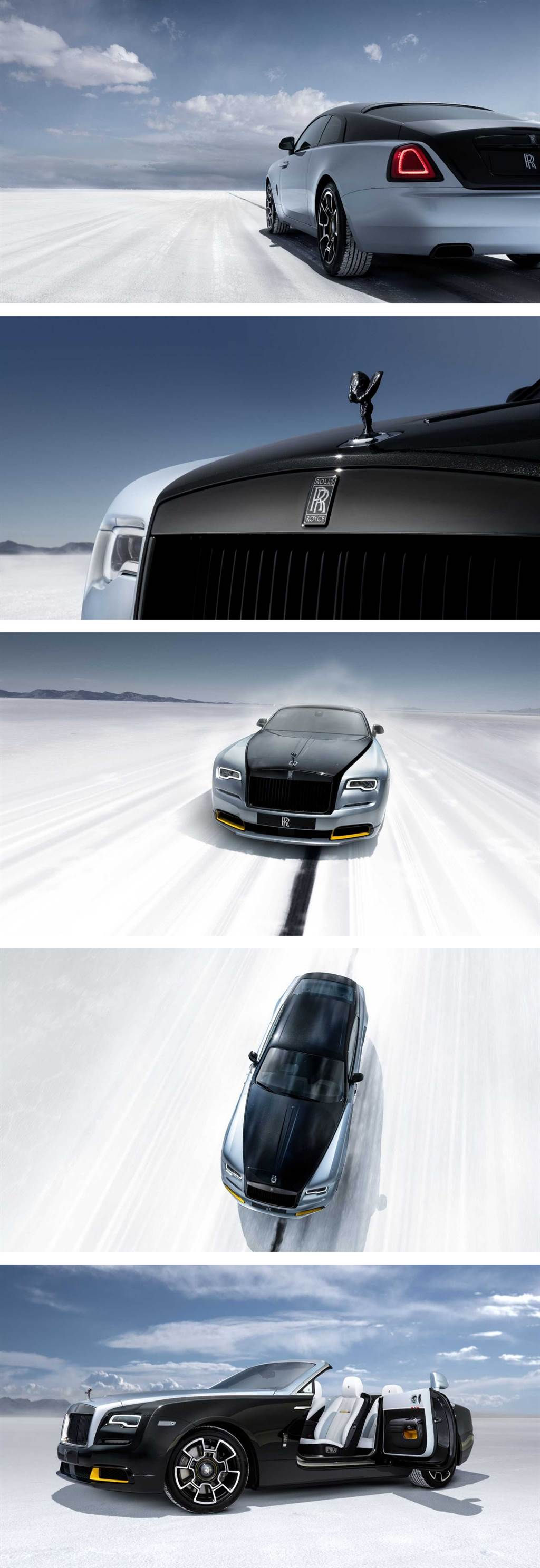 紀念曾經的陸地最速紀錄,Rolls-Royce Wraith & Dawn Black Badge Landspeed 限量推出