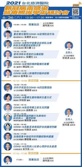 照顧確診患者最多的醫院 台北慈院明辦線上照護學術研討會