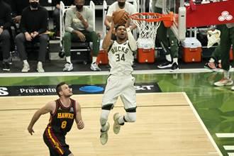NBA》東區決賽變調!公鹿G2狂電老鷹34分扳平