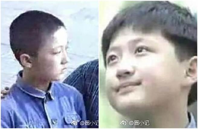 大陸男星李傳9歲演出電視劇爆紅。(圖/微博)