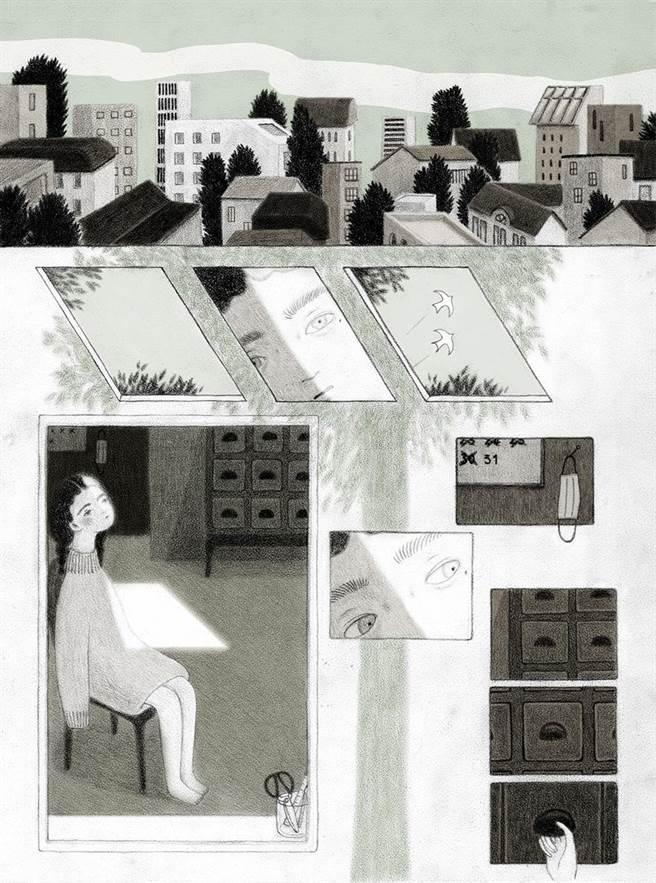 藝術家卓霈欣今年甫以短篇漫畫《樹冠羞避》獲波隆那SM插畫家大獎,除明年將於波隆那書展舉辦個展外,也即將開始準備與西班牙SM基金會推出合作繪本。(卓霈欣提供)