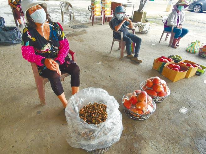 原本擬於28日開市的台南市大內區青果集貨場,提前於25日開市,第1天擺攤果農不到10攤。(劉秀芬攝)