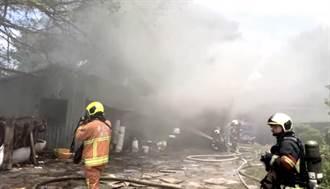 北投洲美街油漆工廠倉庫火警  員工逃生無人受傷