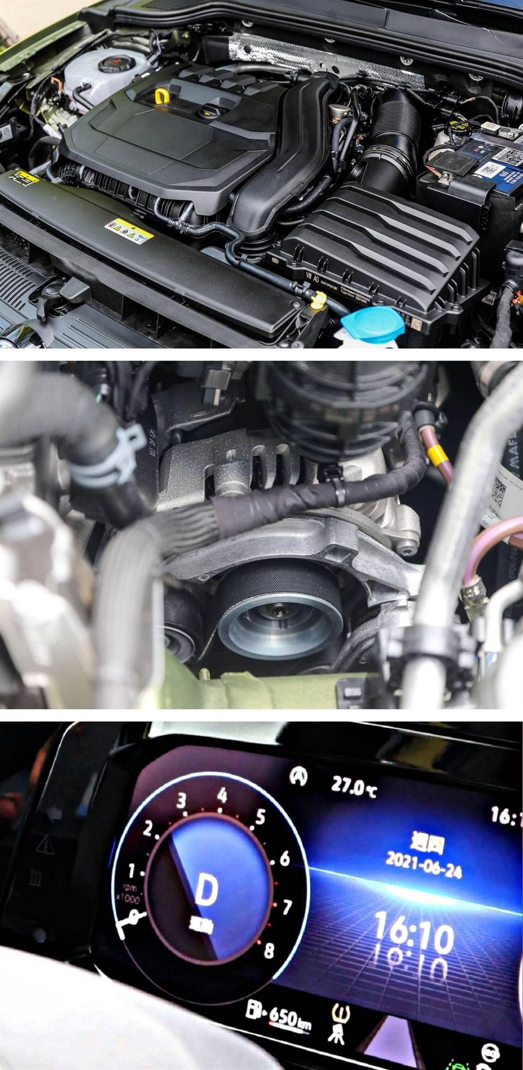 上圖顯示引擎轉速為零,就是車輛在進行節能滑行的狀態,無論是上坡或是下坡,都會以低引擎阻力的方式盡量讓車輛滑行前進節省油耗。