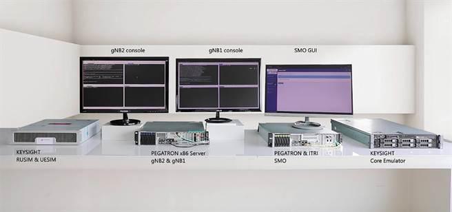 工研院研發台灣首套符合5G O-RAN標準的智慧基站網管系統(5G O-RAN RIC),在世界行動通訊大會(MWC)發表技術成果。(工研院提供/羅浚濱新竹傳真)