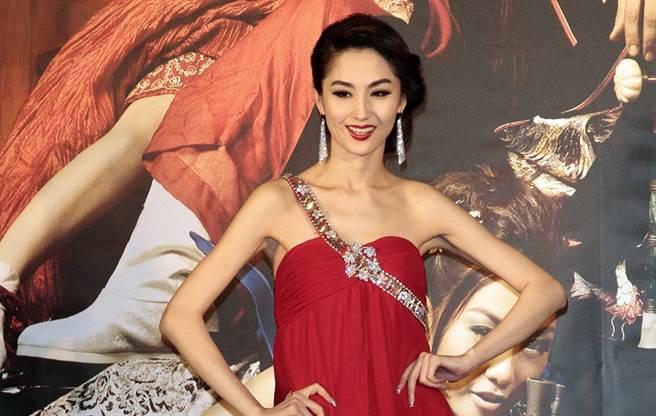藍心妍2011年曾來台宣傳電影《3D肉蒲團之極樂寶鑑》。(圖/中時資料照)