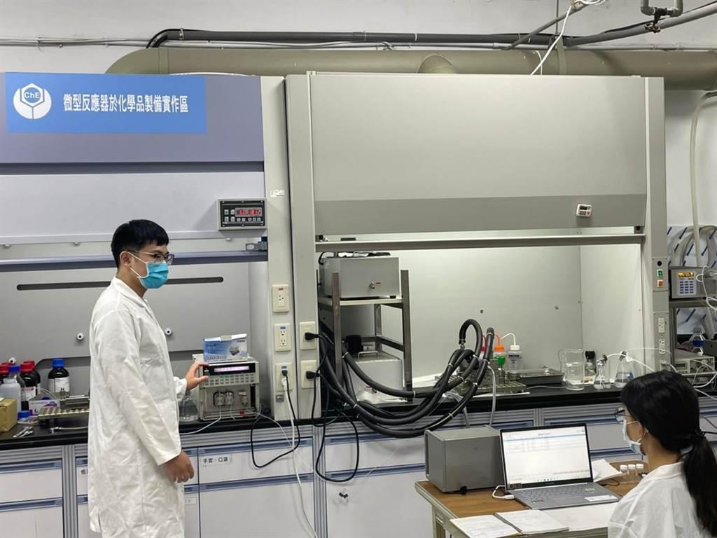 微通道反應系統是化工產業極具未來發展性的設備和技術。(台科大提供/李侑珊台北傳真)