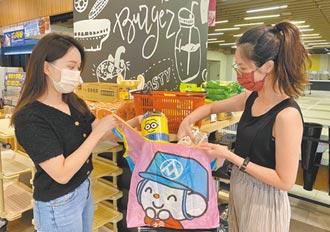 超市量販拚減塑 購物袋用租的