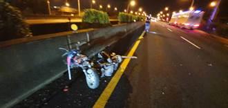 8旬翁深夜騎機車誤闖國道 遭BMW轎車撞飛身首異處慘死