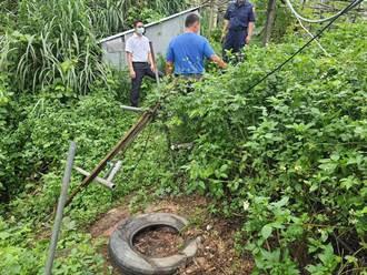 居民一天被偷4台馬達 苗栗大湖警分局追查偷抽水馬達賊