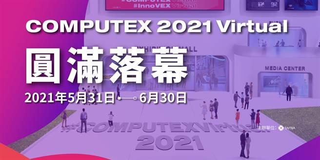 COMPUTEX 2021 Virtual 圓滿落幕。(外貿協會提供/黃慧雯台北傳真)