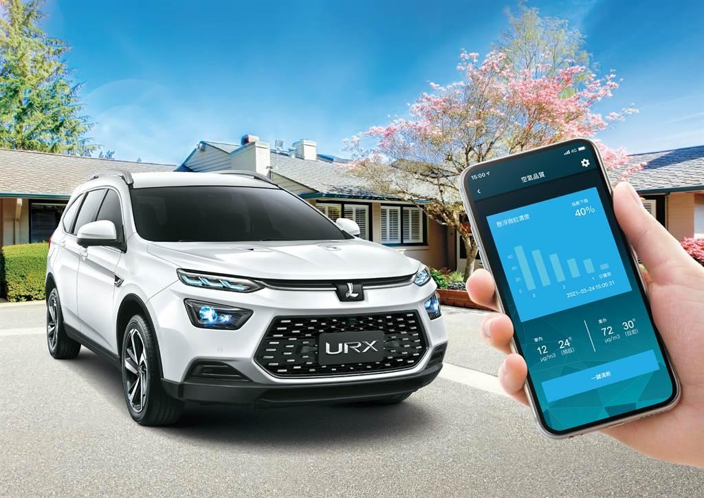 7月入主URX七人健康旗艦/樂活款,即享免費升級國產車唯一的LUXGEN LINK⁺智聯網系統,在車外就能用手機遠端啟動《PM2.5一鍵清新》功能。