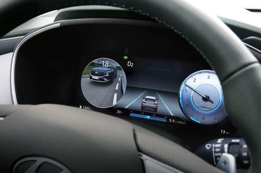 全新導入12.3吋TFT-LCD全尺寸高解析度數位儀錶,結合BVM盲區影像輔助系統。