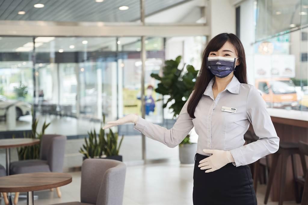 Ford全台服務中心高規格防疫措施,落實手部衛生及咳嗽禮節。
