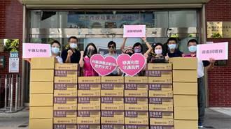 民代結合企業捐贈愛心物資 助警加強防疫