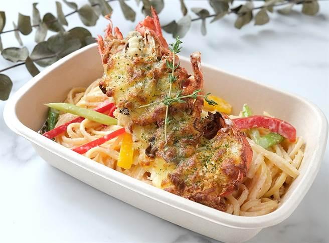 「美麗廚房」內的義大利Pasta選擇多樣,圖為「焗烤龍蝦明太子義大利麵」。(圖/寒舍艾美酒店)