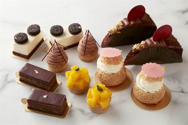 台北寒舍艾美酒店以自助餐廳改裝的「美麗廚房」,可以買到各式精選甜點。(圖/寒舍艾美酒店)