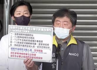 台北環南市場爆41人確診 陳時中:中央地方合作成立前進指揮所