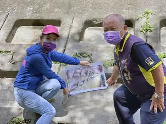 台南海堤格梁護坡 驚見近千個登革熱病媒蚊溫床