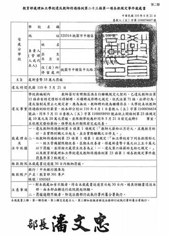 中原大學涉逼教師離職 教團籲解聘校長、扣補助款