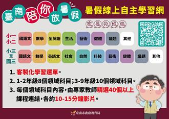 台南公版直播教學吸880萬人次點閱 暑假再推客製化線上自主學習網