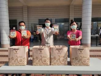 感謝台南佳里區第1線防疫人員 漳洲社區贈益生菌及口罩貼片