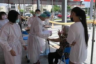 美捐莫德納疫苗彰化醫院戶外開打 宇美町式還貼心設廁所