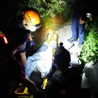 「火神的眼淚」情節再現!女困山區警消深夜背抬4小時救援