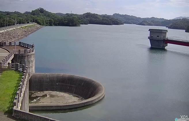 新竹寶二水庫已達滿水位,竹科確定今年不會缺水。(圖/新竹大小事;來源水利署網站)