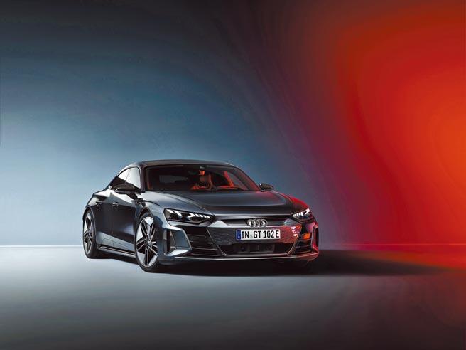 Audi純電美駒RS e-tron GT車系開放預售,預售價598萬元。(台灣奧迪提供)