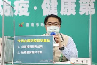 台南連7天+0 安南群聚案隔離者追蹤狀況穩定 疫苗施打年齡下修