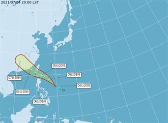準颱風烟花周一恐海陸警齊發 影響範圍曝光 這時雨最大