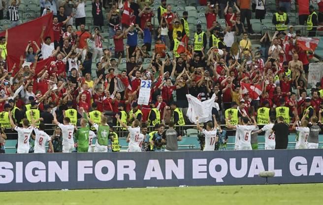 丹麥2比1勝捷克 晉級歐國盃4強(圖/美聯)