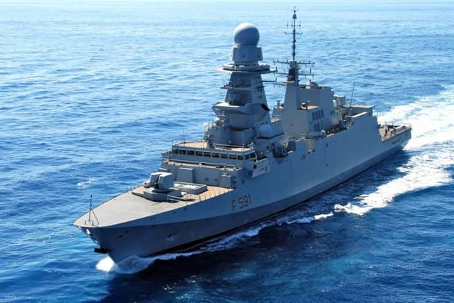 義大利維吉尼歐-法桑號飛彈巡防艦。(圖/義大利海軍)