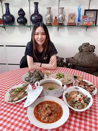 文慧如相隔一年半回新加坡 家人端粽子滿桌菜迎接
