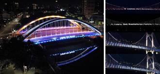 高雄、釜山締結姊妹市55週年慶 互放光彩表情誼