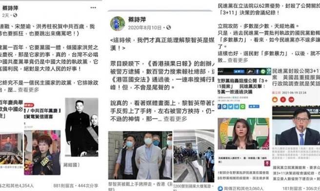 蔡詩萍》敬答批評我的不同聲音:我支持自由民主體制,我支持中華民國台灣派!(愛傳媒提供)