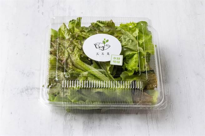 「人生海海蔬果專車」蔬菜箱可以選擇「綜合水耕蔬菜」與其它蔬搭配成箱。(圖/橘焱國際)