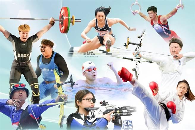 台師大將有9位頂尖運動員前進東京奧運,他們會在即日起推出的線上居家運動課亮相,邀請大家一起為運動員加油。(台師大提供/林志成台北傳真)