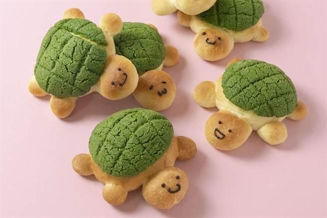 小烏龜波蘿麵包。 圖:自己做烘焙聚樂部╱提供