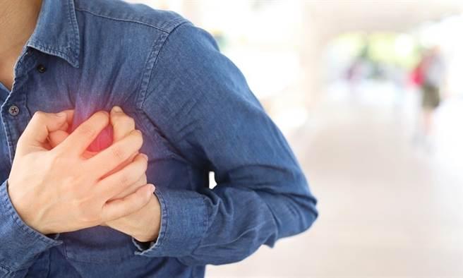 胸痛、冒冷汗 疑似心肌梗塞別忍耐!3招保心這樣做。(示意圖/Shutterstock)