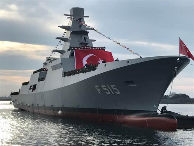 今年1月下水的土耳其「伊斯坦堡」巡防艦。(圖/土耳其海軍)