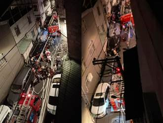 中和民宅大火濃煙直竄 民眾怒:巷弄小又停滿車救災全卡住