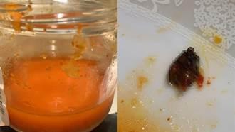 泡菜罐頭吃完驚見「黑色生物」 網友安慰:至少屍體健全