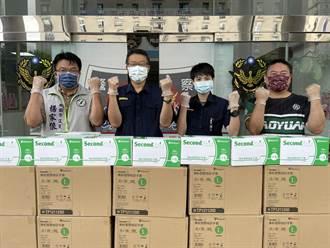 桃園民代結合地方團體 捐贈防疫物資助警安心防疫