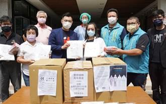 江啟臣牽線豐原國際青商會 捐醫療院所防疫物資