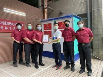 建設公司慨送萬件防疫用品 新北消防局第三大隊直呼感謝