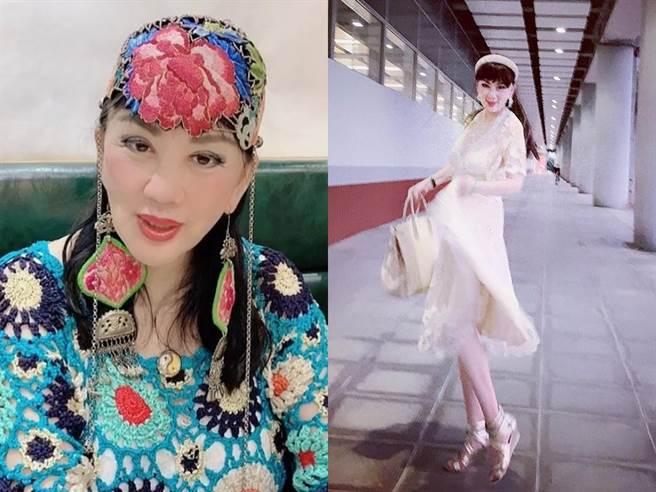 73歲宮雪花風韻猶存,但被部分網友批妝容和打扮很老氣。(圖/IG@gongxuehua88)