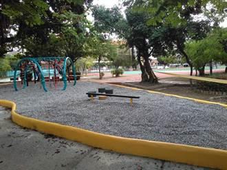 溜滑梯不見了?南市議長批國小兒童遊戲場令人失望