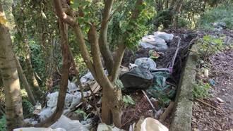 五股山路及竹筍園遭棄置廢棄物 環保局追查1個月逮獲非法業者